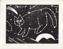 Kliban Cat Constellation. Vintage 1981 print. 9 x 11 - $19.59