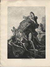 The Abduction of Helen. R. von Deutsch. Antique 1892 typogravure print. - $15.79