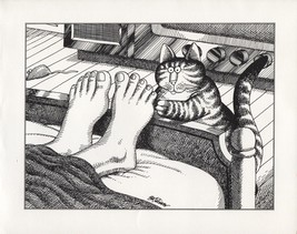 Kliban Cats. Tickle, Tickle! Vintage 1981 print. 9 x 11 - $16.95