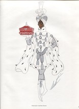 Erte, Box Bearer, Der Rosenkavalier Costume design. Vintage 1980 Art Dec... - $17.64