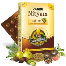 Zandu Nityam Tablets for gas, acidity,flatulence, digestion 5x12 tablet=60 - $9.89