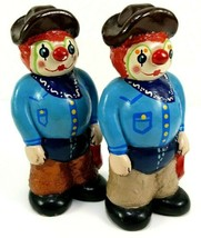 National Finals Rodeo NFR 1983 Lot of 2 Plaster Clowns 5.5 Inch PAL Prod... - $29.65