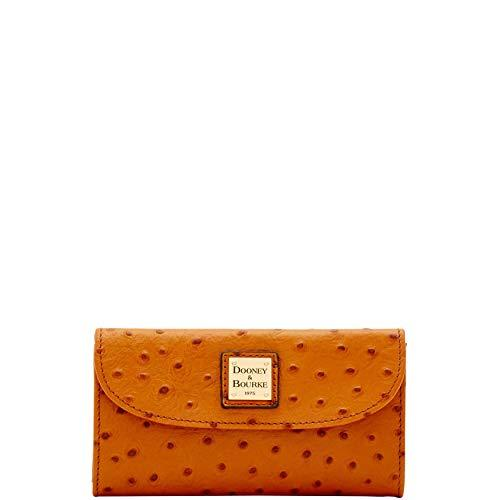 Dooney and Bourke Ostrich Emb Continental Clutch Tan
