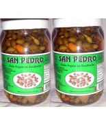 2 X San Pedro Chile Piquin Del Monte En Escabeche Hot & Spicy Pepper 2 B... - $25.00