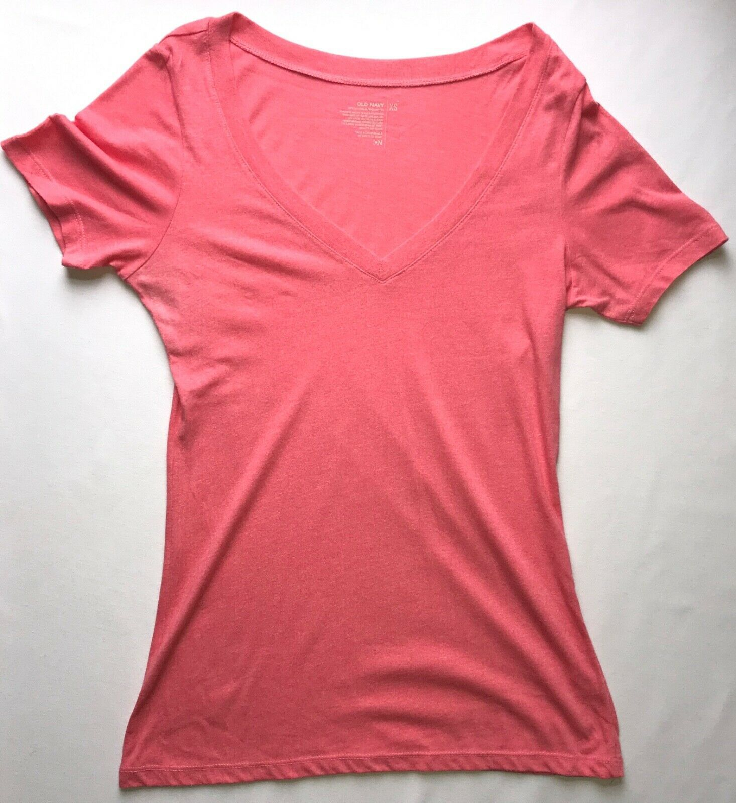 "Primary image for ""Everly"" Short Sleeve V Neck T Shirt in Light Pink in Xtra Small"