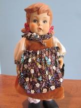 "Hummel Porcelain Doll Figurine Large 10"" Girl in Flower Dress not marked  - $19.80"