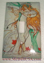 Artist Lady with Tree Light Switch Duplex Outlet Wall Cover Plate Home Decor image 1