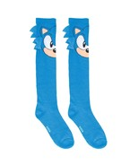 Sonic Face Ladies Knee High Socks Blue - $14.98