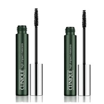 2-Full Size Clinique High Impact Mascara's in 01 Black .24oz/7ml New, No... - $26.72