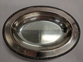 WM ROGERS VINTAGE AVON 2 PIECE PLATED PLATTER SERVING CHAFING DISH WITH ... - $12.61