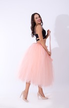 Women Puffy Tutu Skirt Drawstring High Waist Long Tulle Skirt Petticoat One Size image 11