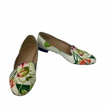 J Crew Size 10.5 Floral Classic Tab Loafers Shoes Liberty Print Blue Seq... - $32.71