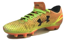 Under Armour Force Soccer Cleats Orange Yellow 1246303-825 4.5Y - $10.88