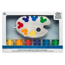 Disney Parks Ink & Paint Magnetic Icon Toothpick Holder Set New In Box - $34.64