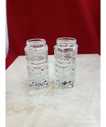 Vintage Glass Salt and Pepper Shakers No Lids Small Chip To Base - $9.99