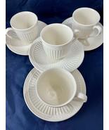 Mikasa Italian Countryside Stoneware Tea Cups Or Coffee Cups 4 Saucers 4... - $34.65