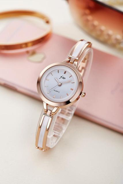 New Fashion Rhinestone Watches Women Luxury Brand Stainless Steel Bracelet watch image 4