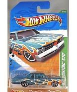 2011 Hot Wheels #57 Treasure Hunts #7/15 '64 PONTIAC GTO Teal w/MC5 Spok... - $10.40