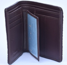 Perfect Design Syrup Brown Many Card Slots Premium Crocodile Leather Wallet - $176.39