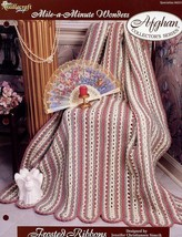 Frosted Ribbons Afghan Mile A Minute Wonders TNS Crochet PATTERN/INSTRUC... - $1.41