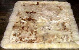 Fur rug from Peru, made of Babyalpaca fur, 200 x 220 cm/ 6'56 x 7'21 ft - $1,216.00
