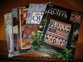 lot of 5 Leisure Arts book leaflet quilting patterns country seasonal Patchwork - $14.85
