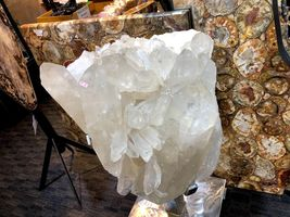 CRYSTAL QUARTZ w/ STAND MINERAL ROCK INCREDIBLE FORMATIONS Sticker $45,000 image 5