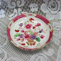 TUSCAN ENGLISH FINE BONE CHINA SAUCER VINTAGE HAND PAINTED PINK FLOWERS URN - $5.39