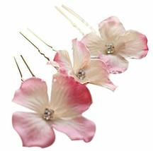 10 PCS Lovely Flower Pattern Hair Pins/Clips Headwears, Pink