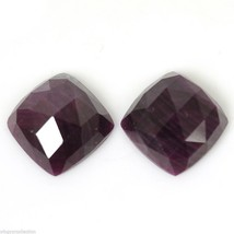 17.25cts Natural Untreated RED RUBY Gemstone Cushion Rose Cut Slice 12mm... - $15.53