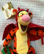 "Disney Mini B EAN Bag Toy Devil Tigger 9"" New Halloween - $7.58"