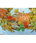 Gorgeous Vintage 7pc Pumpkin Fruit Veg Vivid Fall Graphic Sheer Cafe Cur... - $48.00