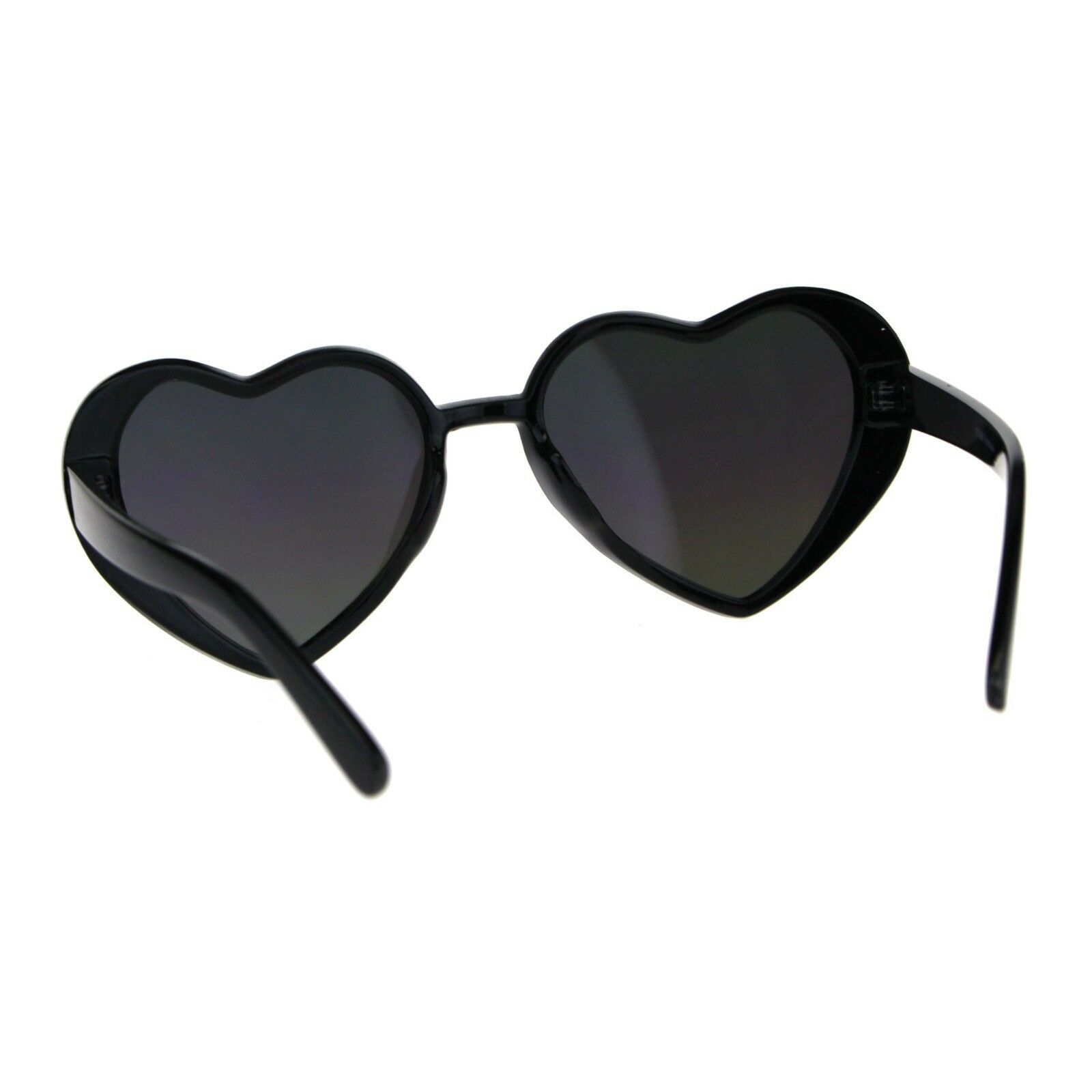 Oversized Heart Shape Sunglasses Womens Fashion Mirrored Lens Shades image 11