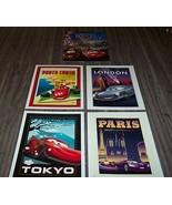 Walt Disney Store CARS 2 LITHOGRAPH SET NEW Paris Tokyo London Porto Corsa - $24.74
