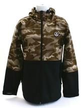 Neff Softshell Camouflage & Black Zip Front Hooded Snow Jacket Men's NEW - $74.99