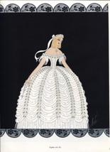 Erte, Sophie, Der Rosenkavalier Costume design. Vintage 1980 Art Deco print - $15.79