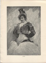 Merimee's Carmen. J. Koppay. Antique 1892 Wood Engraving Print 8.5 X 11 - $18.61