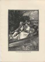 Arthur Bonnicastle and Millie Bradford. Knowles. 1892 wood engraving print. - $12.00