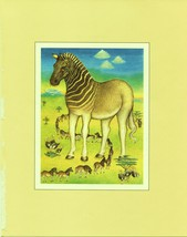Quagga. Shawn Rice. Extinct Animal Species Art. Vintage 1981 8X10 print - $15.79