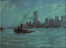 Ray Ellis. New York Harbor. 1986 print 12 X 15 - $16.95
