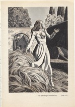 "Rockwell Kent ""the girl emerged from the hay"", The Decameron. Vintage 19... - $9.00"