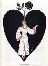 Erte, Octavian 2, Der Rosenkavalier Costume design. Vintage 1980 Art Dec... - $16.61