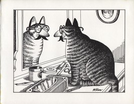 Kliban Halloween Cat in Disguise. Vintage 1981 print. 9 x 11 - $15.79
