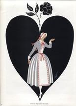 Erte, Octavian 3, Der Rosenkavalier Costume design. Vintage 1980 Art Dec... - $16.61