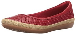 CLARKS Women's Danelly Adira Ballet Flat, Red Leather, 9 M US - $97.97