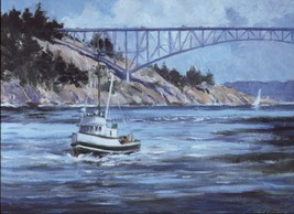 Ray Ellis. Deception Pass. Puget Sound, Washington. West Coast 1990 prin... - $23.17
