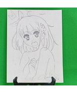 "Original Signed Anime Art By April - Pencil Sketch, ""Bakka!!!""  9 X 12 - $3.95"