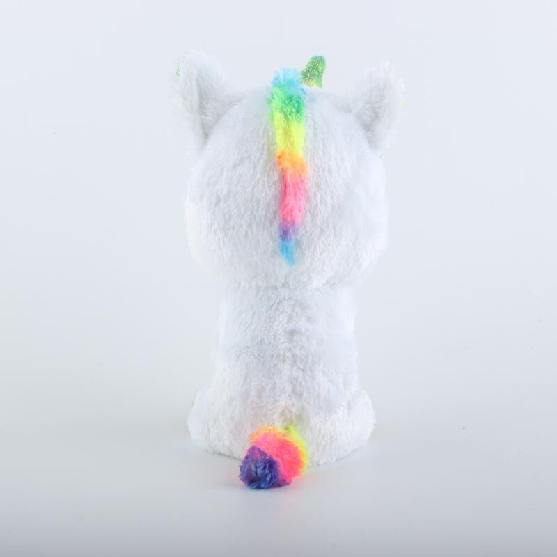 Ty Beanie Boos Stuffed & Plush Animal Colorful White Unicorn Toy Doll With Tag image 4
