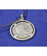 Antinous and Hadrian twosided Sterling Silver wreathed Medallion - $69.90