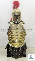 Medieval Armour Brass Muscle Armor With Corinthian Helmet - $259.00